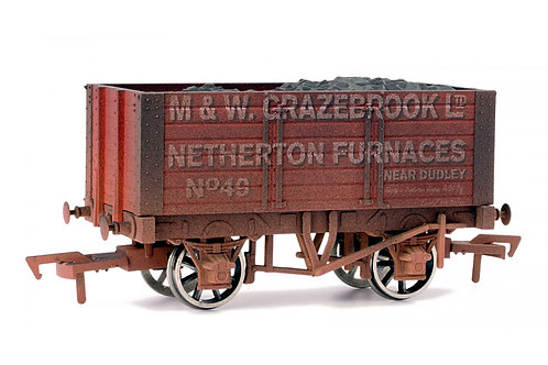 4F-072-002 OO GAUGE 7 PLANK WAGON GRAZEBROOK 9' WHEELBASE WEATHERED
