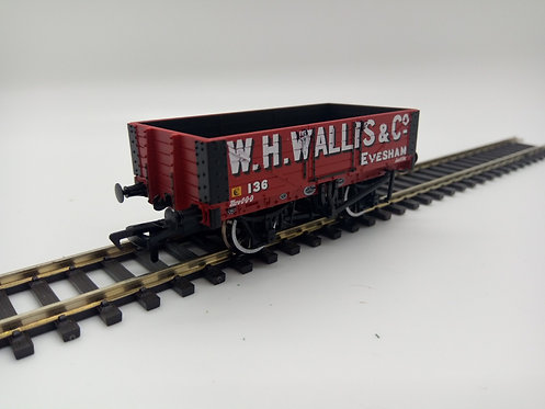 5 Plank Wagon Wooden Floor 'W. H. Wallis & Co' Red