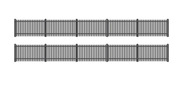422 GWR Station Fencing, Black