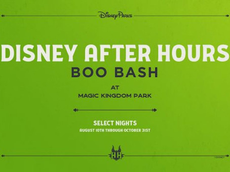Disney After Hours Boo Bash Coming to Walt Disney World's Magic Kingdom!