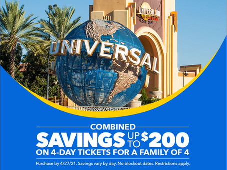 Save Up to $50 on a 4-Day Universal Orlando Ticket!