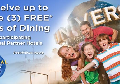 Free Dining at Universal Orlando Resort