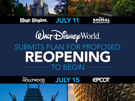 Walt Disney World Announces Reopening Plans