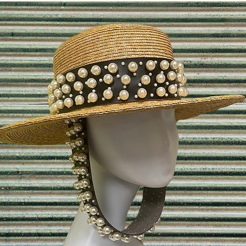Boater Pearl Hat