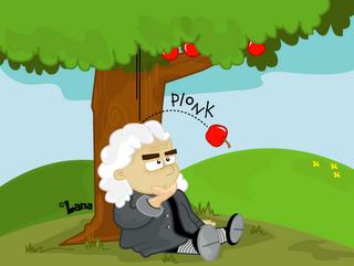 Isaac Newton, a maça e a natureza efêmera do desconforto