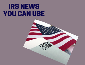 IRS News you can use