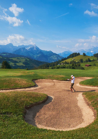 Villars 18 Hole Golf Course is 10 minutes drive from Chalet Balthazar