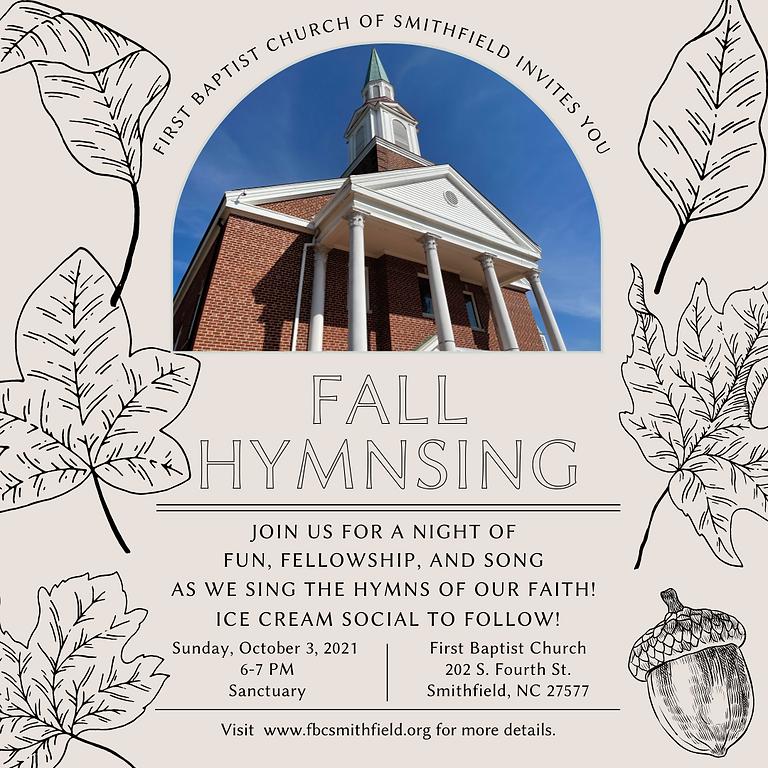 Fall HymnSing