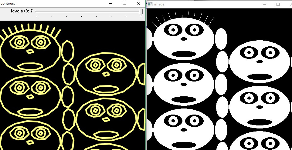 OpenCV2 Contour sample code - findContours() and drawContours()