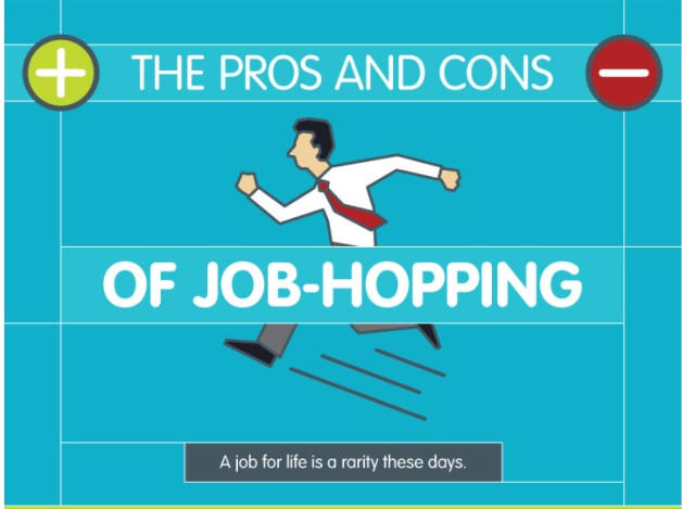 The Pros and cons of job hopping. Check the first reason-it's awesome.