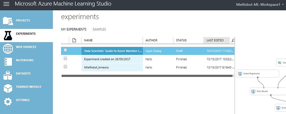 Azure machine learning studio | How to access and start | MieRobot