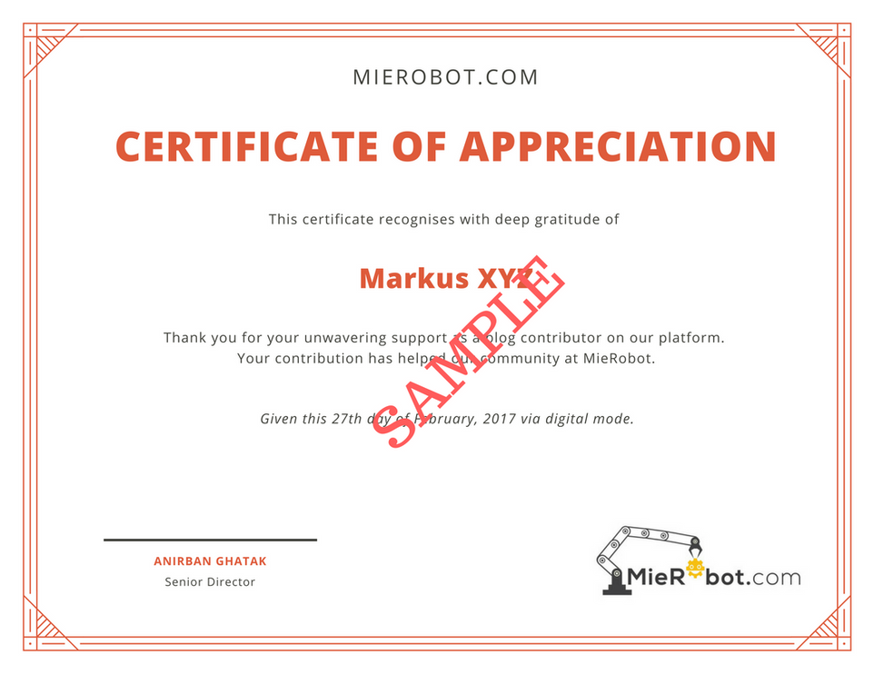 Get an appreciation certificate from us as a Guest Blogger. Here is how.