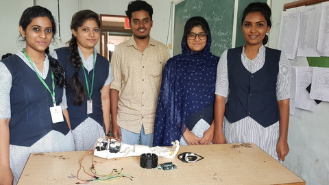 EMG controlled Prosthetic Limb: An amazing project from computer engineering students of Toc H Keral