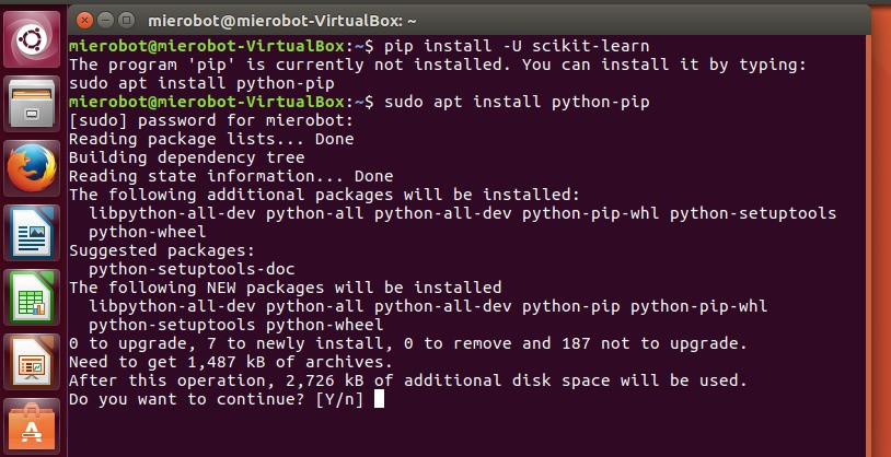 SciKit installation with Ubuntu by MieRobot