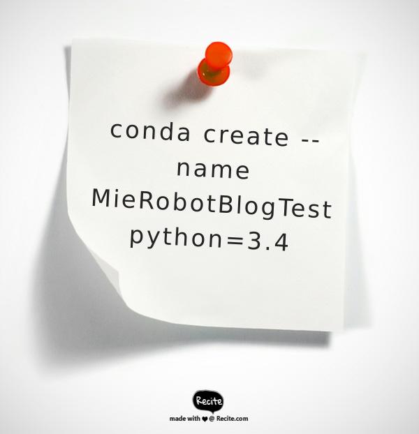 conda create | Mierobot blogs