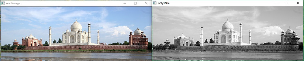 Taj Mahal image after Grayscale