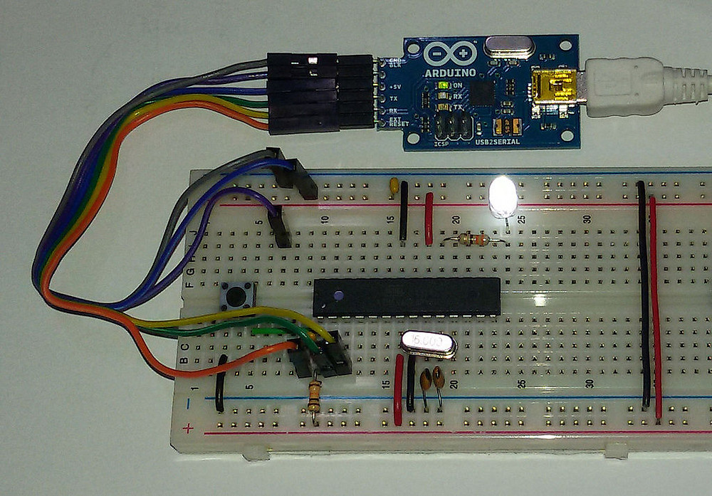 Arduino with a bread broad