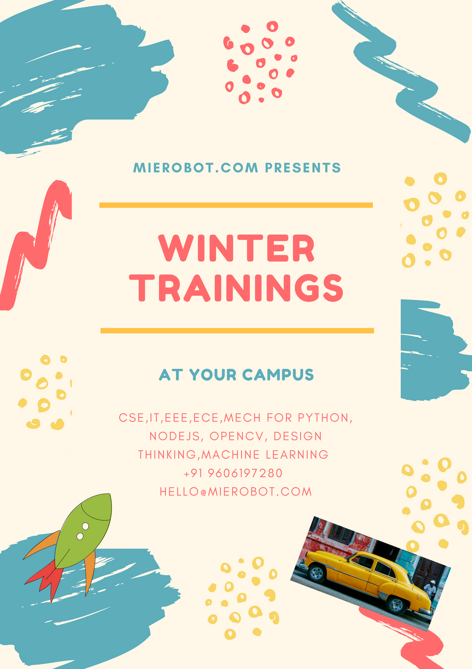 Winter training at your campus from MieRobot.com