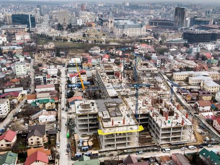 Update Palas Campus, upgrade Iași: IULIUS a avansat cu lucrările până la etajul 4 din 6