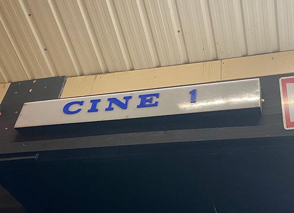 'CINE 1' Sign