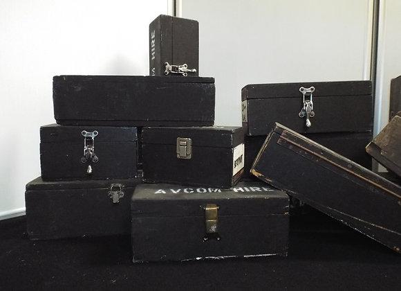 Black Wooden Transport Cases