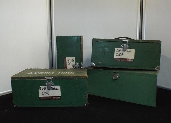 Green Wooden Transport Cases