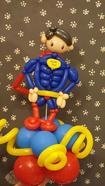 Cartoon character balloons sculpture