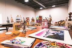 paintings in warehouse
