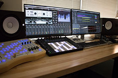 music production control room