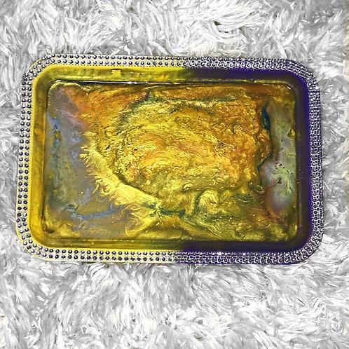 Purple & Gold Bling Beauty/Rolling Tray