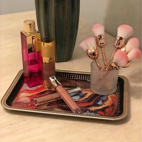 Marble and Bling Beauty Tray
