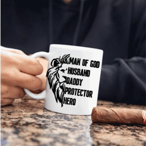 Husband, Daddy, Protector, Man of God Mug