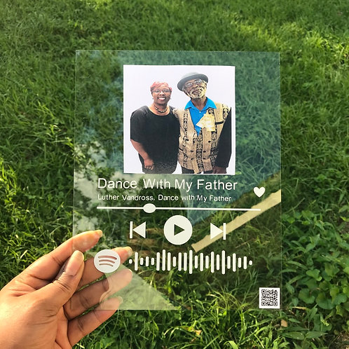 Our Song - Scannable Love Plaque
