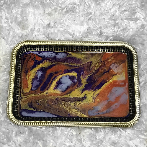 Marbled Beauty Tray w/Bling Edges