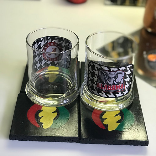 Alabama Themed Glasses