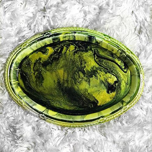 Green & Black Marble Beauty Tray