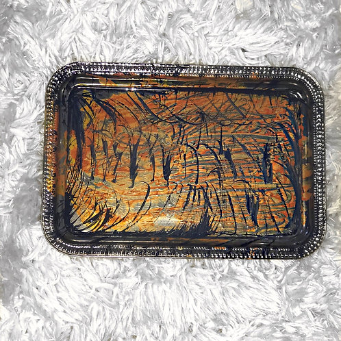 """""""Tiger Scratch"""" Beauty/Rolling Tray"""