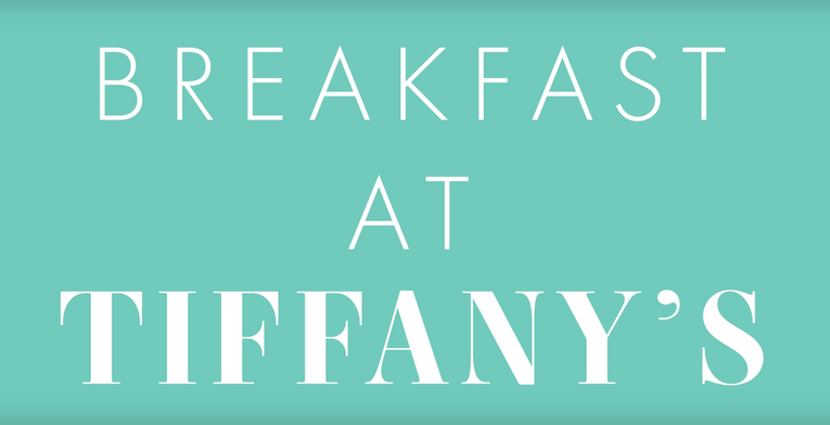 video - breakfast at tiffany's