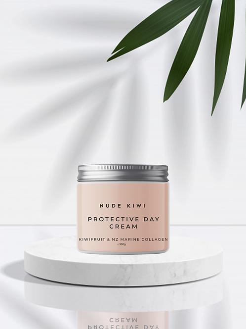 Protective Day Cream - Kiwifruit & NZ Marine Collagen - 100g