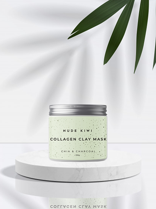 Collagen Clay Mask - Chia & Charcoal - 100g