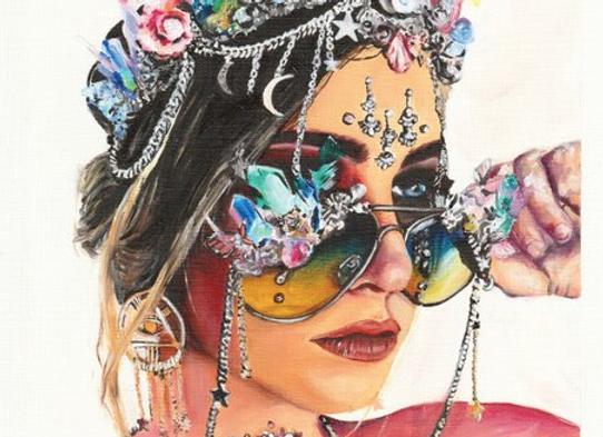 Crystal Girl Print
