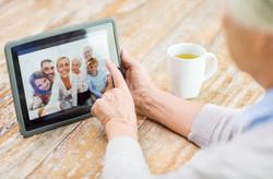 Photos on tablet