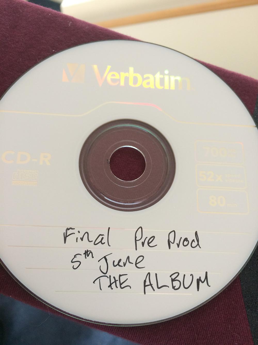 Merrin pre production of 2017 album