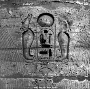 Two Cobras and a Cartouche, Temple of Ramses III, Medinet Habu, 2017