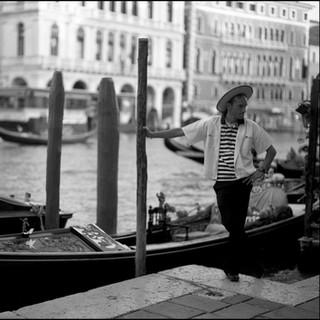 Gondolier, Venice, 2009