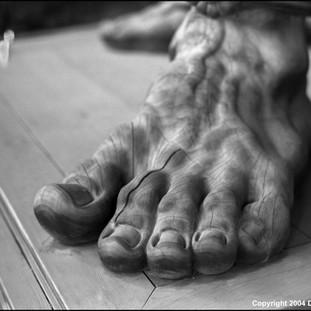 Colossal Foot, Zenko-ji Temple, Nagano, 2004
