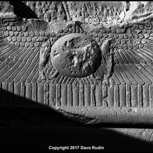 Winged Sun Disk, Temple of Hathor, Dendera, 2017