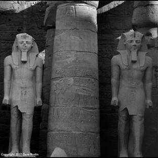 Courtyard of Ramses II, Luxor Temple, Luxor, 2017