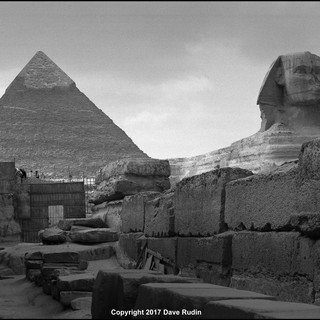 The Great Sphinx and the Pyramid of Khafre, Giza, 2017