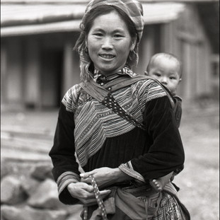 Mother and Child, Flower Hmong Village, 2006